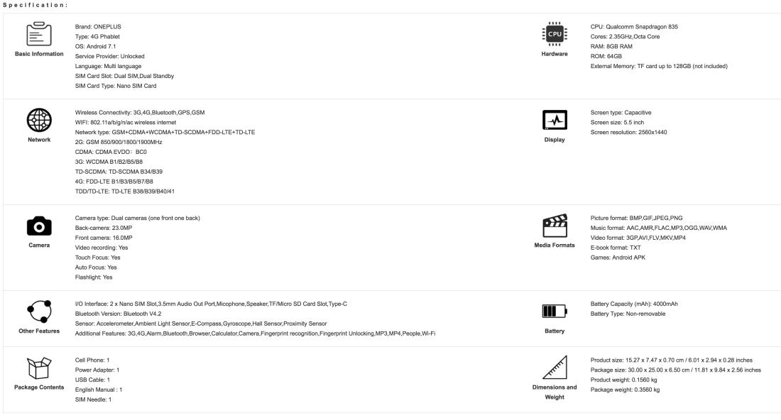 OnePlus leaked