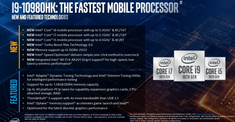 Intel i9-10980HK