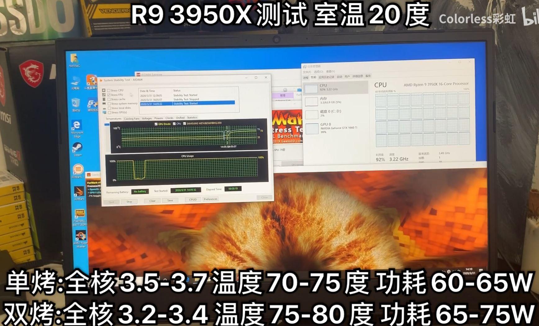 Ryzen 9 3950x stress test
